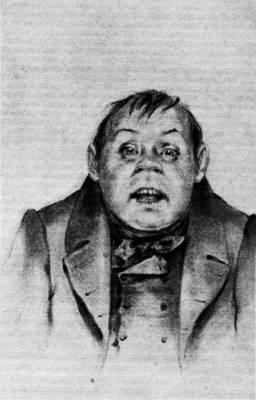 Бобчинский. Рисунок П. М. Боклевского, 1870-е гг.